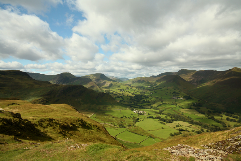Newlands valley from Cat Bells